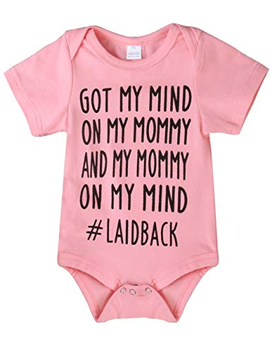 Newborn Baby GOT My Mind ON My Mommy Funny Bodysuits Rompers Outfits Blue(12-18M, - Baby Clothes Cute Funny