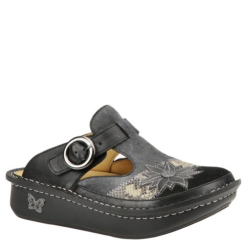 Alegria Women's Classic Clog Sophistisnake Charcoal lowest price really V490L9o