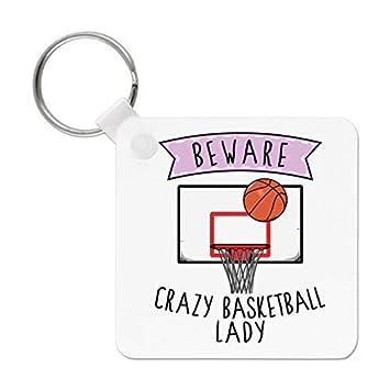 Gift Base Beware Crazy Baloncesto Señora Llavero: Amazon.es ...