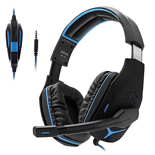 PS4 Headsets, Anivia AH18 Over-Ear Stereo Gaming Headset with Mic for Nintendo Switch, Xbox one, PC Computer, Noise…