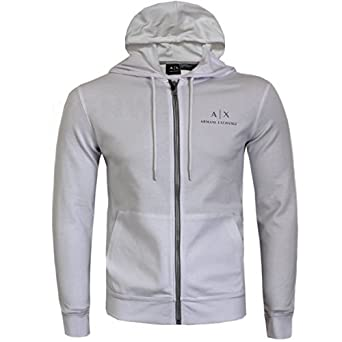 2bb29483b Armani Exchange Mens Full Zip 2D Logo Hoodie/Sweater Black, White S, M, L,  XL (Small, White): Amazon.co.uk: Clothing