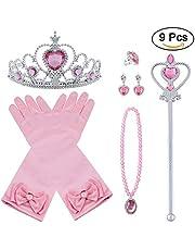 Vicloon Princesa Vestir Accesorios Regalo Conjunto de Belleza para Niña