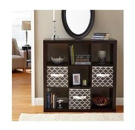 Better Homes and Gardens 9-cube Organizer Storage Bookcase Bookshelf Cabinet Divider Multiple Colors - Espresso by Better Homes & Gardens