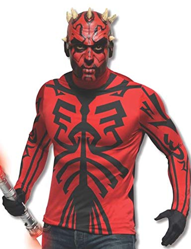 Star Wars Deluxe Darth Maul Costume Kit, Red/Black, Standard -