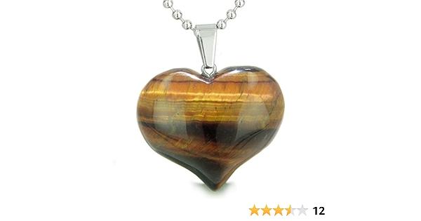 love pendant Tigers eye heart pendant jewelry findings Heart stone pendant tigers eye jewelry