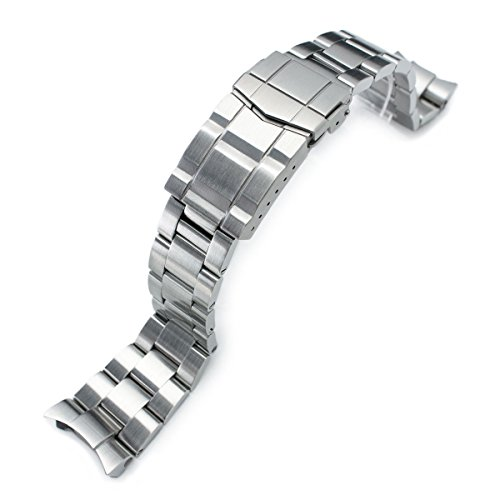 22mm Super 3D Oyster Watch Band Replacement for Seiko Diver ()