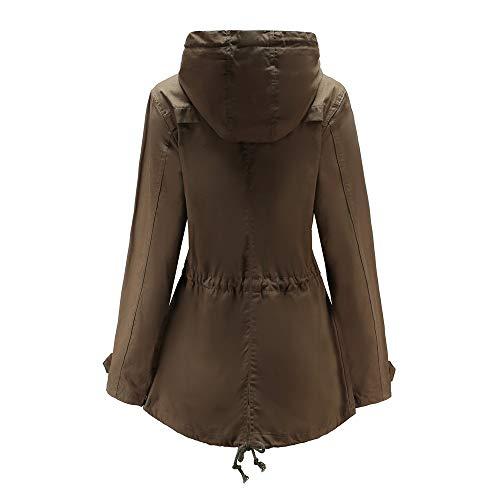 ❤ Parka Lungo Moda Vicgrey Autunno Slim Outwear Da Colore Fit Inverno Puro Giacca Cardigan Cappotto Eleganti Gilet Ragazze Caffè Donna dfqZR4