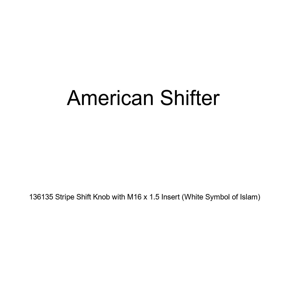 American Shifter 136135 Stripe Shift Knob with M16 x 1.5 Insert White Symbol of Islam