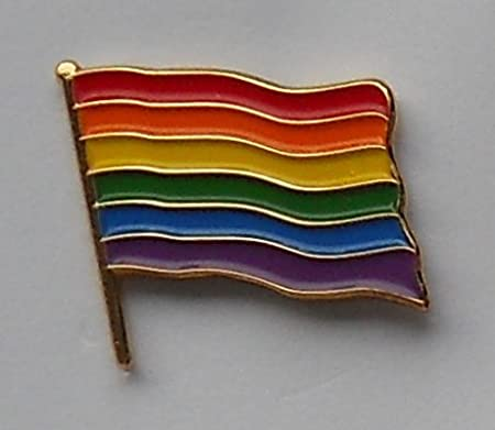 Rainbow Gay Pride Flag Enamel Pin Badge