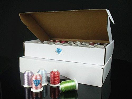 Polyester Embroidery Machine Thread Set (120 Spools, 1000m Each) By Simthread +Free Bonuses (Glow Thread)