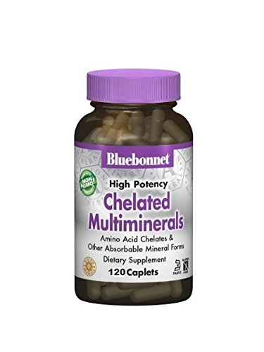Bluebonnet Nutrition - Chelated Multiminerals - 120 Caplets