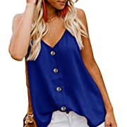 KAIDER Womens Waffle Knit Tunic Blouse Tie Knot Henley Tops Loose Fitting Bat Wing Plain Shirts