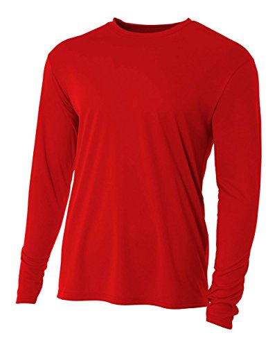 Red Youth Medium Long Sleeve Wicking Cool & Comfortable
