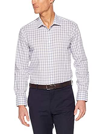 Calvin Klein Slim Fit Business Shirt, Indigo Slub Tex, 37cm Collar
