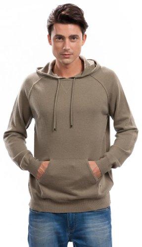 Hoodies for Men - 100% Cashmere - by Citizen Cashmere (Khaki, M) 42 112-12-02 by Citizen Cashmere (Image #1)