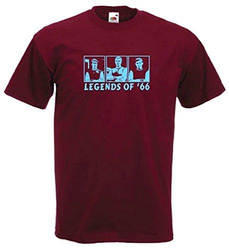 5774790a7daae West Ham England Leyendas De  66 camiseta   Featuring Bobby Moore ...
