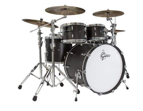 Gretsch New Renown Maple Maple Renown 4-Piece Euro Drum Set B07MKX1WZ6 Shell Pack - Satin Black [並行輸入品] B07MKX1WZ6, ごえんだま:a08b2032 --- kapapa.site