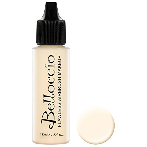 Yellow Airbrush Makeup - Belloccio's Professional Cosmetic Airbrush Makeup Foundation 1/2oz Bottle: Blanc- Light with Yellow Undertones