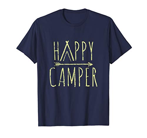 Happy Camper Camping T-Shirt | Camp Tee For Men Women & -