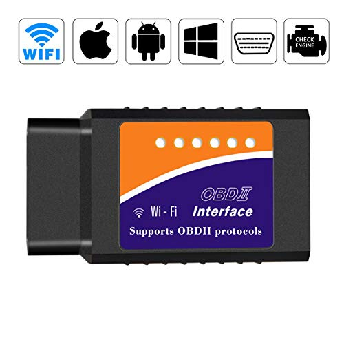 Dongtai Car WiFi OBD2 OBDII Auto Diagnostic Scanner Tool Adapter obd2 Scanner OBD2 Code Reader for iOS Android Windows Devices Fit Most Vehicles