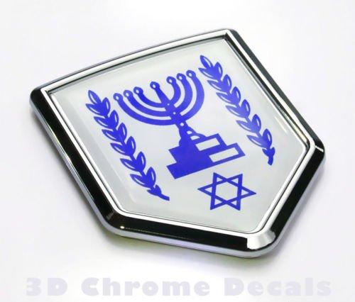 Aplique Cromo Israel Bandera Israelí
