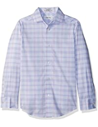 Boys' Long Sleeve Plaid Woven Shirt