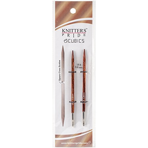 Knitter's Pride KP300403 Cubics Interchangeable Needles, 8/5mm