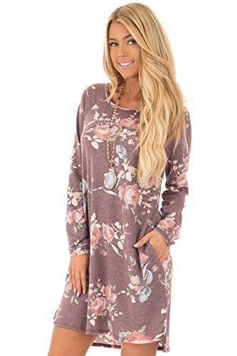 ZHUDJ El Otoño Y El Invierno Vestidos Vestido _ Slim Pocket Lilac colour