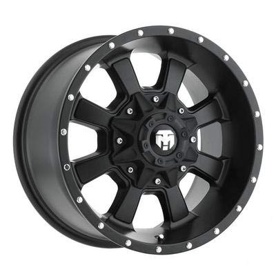 Trailmaster TM220-7963SB Alloy Wheel; Size 17X9; Bolt Pattern 5X5/5X4.5; Max Load 2200 lbs.; Back Space: 4.75 in.; Offset Negative 6mm; Finish Satin Black; ()