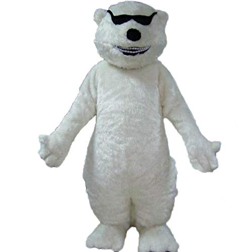 100% Real Photos Lovely Cool Polar Bear Mascot Costume for Company Advertising Funny Mascot Costumes Animal Mascots Deguisement Mascotte -