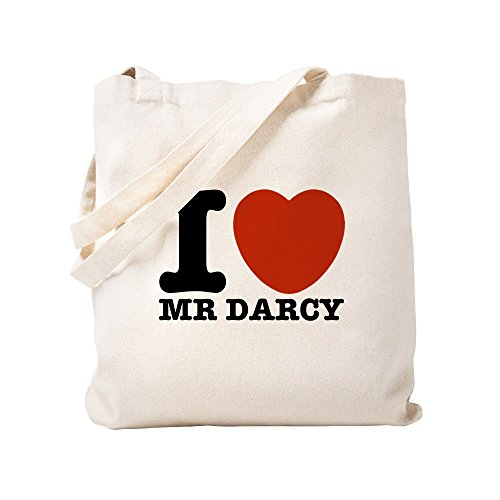 CafePress I Love Darcy - Jane Austen Natural Canvas Tote Bag, Cloth Shopping Bag