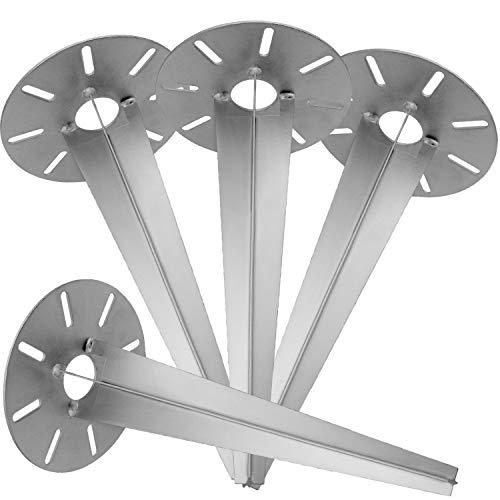 4x Grondspies voor tuinlamp 30cm diep 15cm diameter bodemspies lamp aardspies gegalvaniseerd tuinspies verzinkbare…
