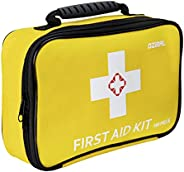 First Aid Kit 100PCS Universal Compact First Aid Kit Waterproof First Aid Kit for Car, Travel, Camping, Home,