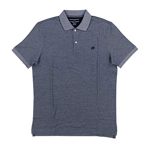 Banana Republic Factory Men's Classic Fit Polo Shirt Elephant Logo Short Sleeve from Banana Republic Factory
