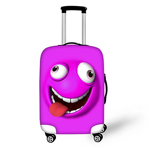 ThiKin 20/24/28 Inch Cute Emoji Smile Face Design Soft Luggage Cover for School Teens by ThiKin