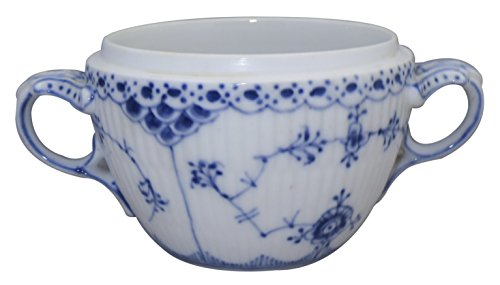 Fluted Sugar Bowl - Royal Copenhagen Blue Fluted-Full Lace Sugar Bowl (No Lid)