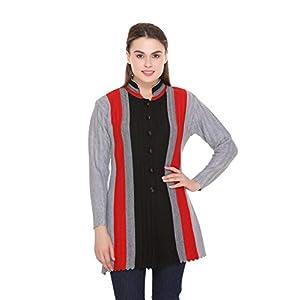 eWools Women's Winter Wear Button Cardigans (Band Collar)