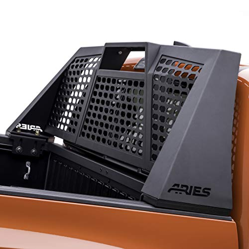 (ARIES 1110112 Switchback Black Aluminum Truck Headache Rack Cab Protector for Select Ford F-150)