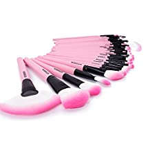 Make up for you Brand Professional Superior Soft Cosmetic Makeup Brush Set Kit Women Pink 32 Pcs Makeup Sets + Pouch Bag Case