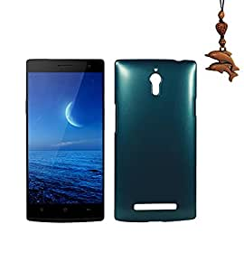 Luxuary Back Snap on Hard Case Cover + Dolphin Decorate Strap for Oppo find 7 x9007 7a x9077 (Dark Green)