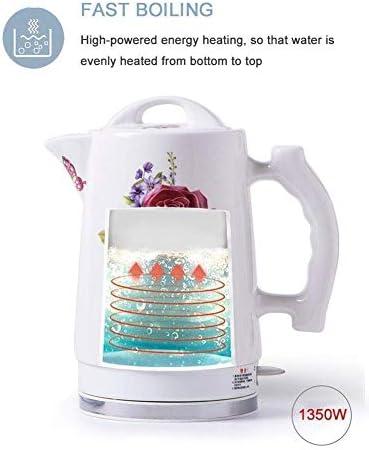 Leilims Céramique Bouilloire électrique, sans Fil Eau Teapot 1.7liter, sans Fil Automatique de Mise Hors Tension Rapide ébullition Rapide