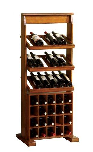 Furniture of America Randell Wine Display Stand, Antique Oak