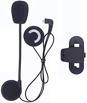 FreedConn Motorrad Intercom Headsets Motorrad Helm Bluetooth BT Gegensprechanlage Zubehör,Mikrofon Lautsprecher Fest Harten Kabel Headset +Clip für TCOM SC & TCOM VB