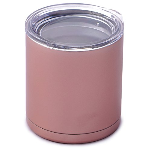 Drinkware Essentials Rose Gold Double Wall Insulated Stainless Steel Travel Tumbler, 10 oz.