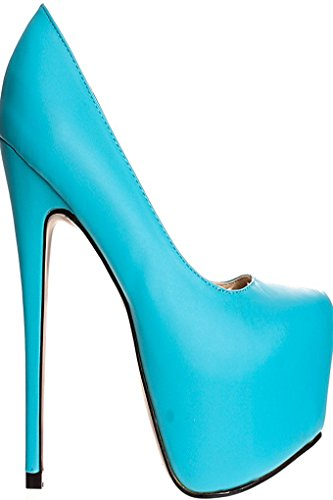 Lolli Couture Riplay Faux Leather Almond Toe Style Platform 6 Inch High Heels BLUEPu-lulli-3 2jOxQKeD0