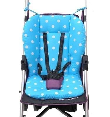 Replacement Parts/Accessories to fit NUNA Strollers and Car Seats Products for Babies, Toddlers, and Children (Blue Polka Dot Cushion)