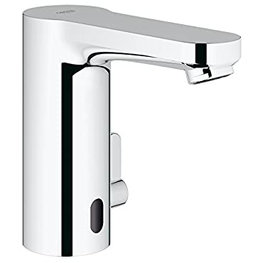 Eurosmart Cosmopolitan E Centerset Touchless Electronic Bathroom Faucet With Temperature Control Lever