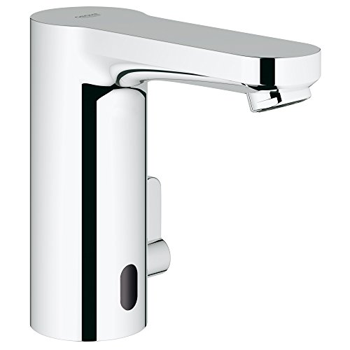 Eurosmart Cosmopolitan E Centerset Touchless Electronic Bathroom Faucet With Temperature Control Lever - Grohe Eurosmart Centerset