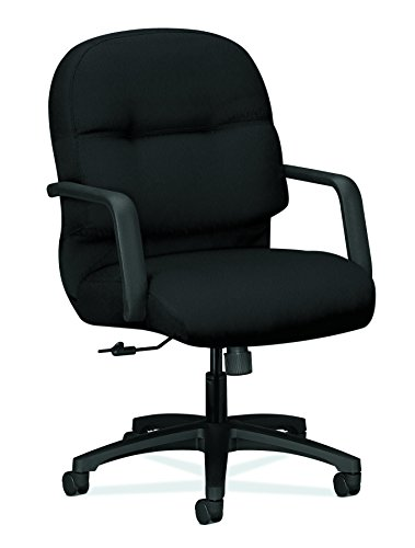 - HON Executive Chair - Pillow-Soft Series Mid-Back Office , Black (H2092)