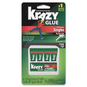 Krazy Glue Instant All Purpose Single Use Tubes 4 ea ()